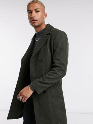 Religion military coat in dark green