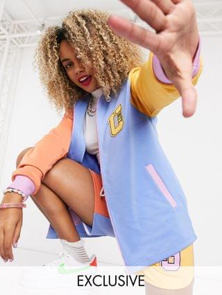 x glaad co-ord track jacket with unity print in color block polytricot