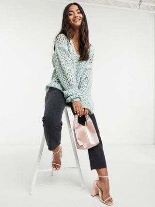 WOMEN In The Style x Lorna Luxe knitted sweater in green