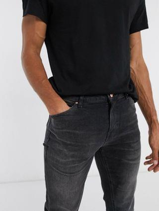 TEST TALL  Tall 'Sustainable' skinny jeans in washed black