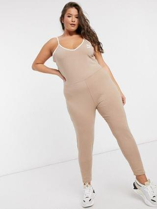 WOMEN Puma Plus Unitard in tan exclusive to