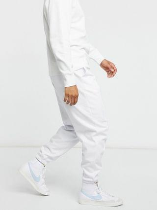 co-ord oversized tracksuit in white with pin tucks