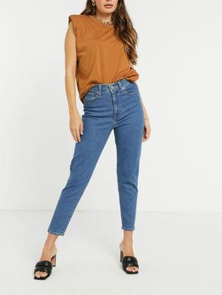 WOMEN Levi's high waisted taper jeans in light wash blue