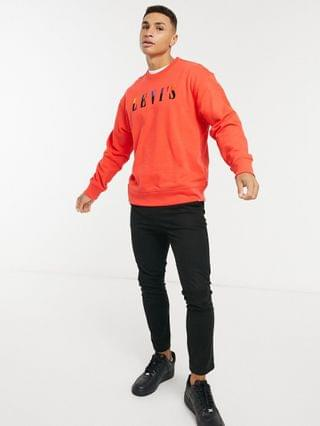 TEST LEVI Levi's relaxed logo crewneck sweater in poppy red