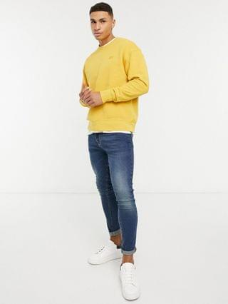 TEST LEVI Levi's authentic logo crewneck sweater in golden yellow
