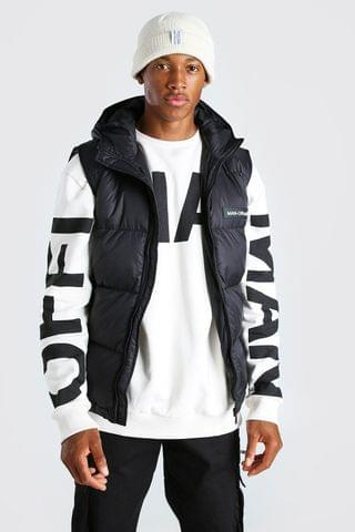 MEN MAN Branded Padded Gilet