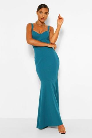 WOMEN Fitted Fishtail Maxi Bridesmaid Dress