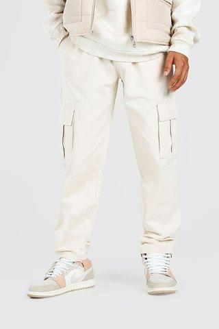 MEN Twill Cargo Trouser With Popper Ankle