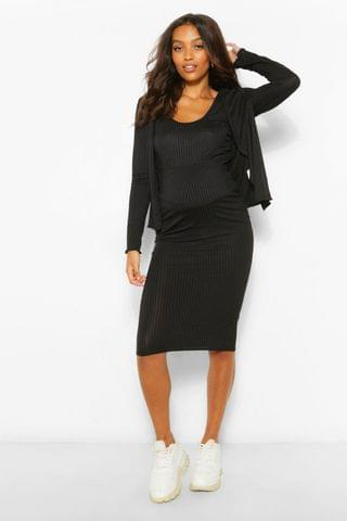 WOMEN Maternity 3 Pc Cardigan And Skirt Co-Ord Set