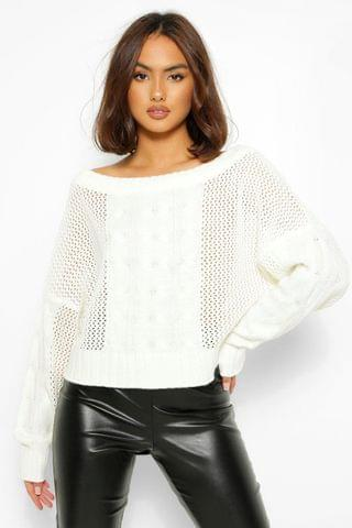 WOMEN Loose Cable Knit Jumper