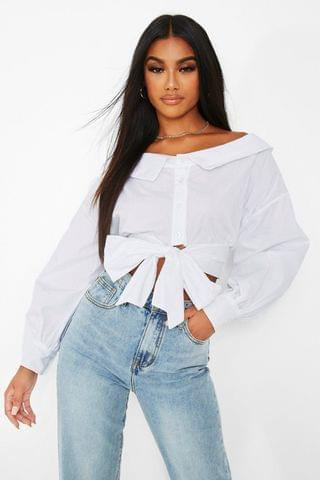 WOMEN Off The Shoulder White Shirt