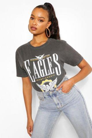 WOMEN Eagles Printed Washed T-Shirt