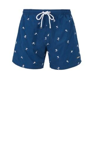 MEN Quick-drying swim shorts with embroidered motif