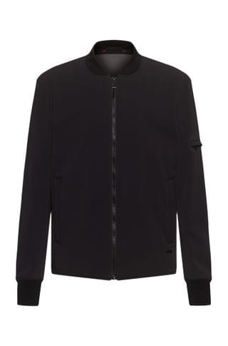 MEN Slim-fit bomber jacket with stand collar