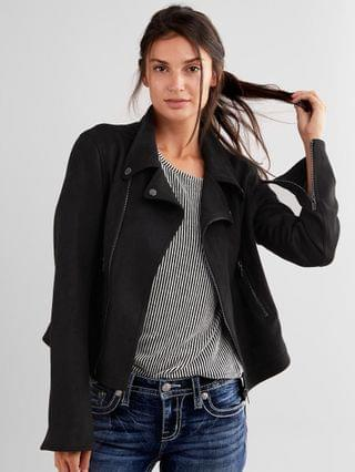 WOMEN Daytrip Faux Suede Moto Jacket