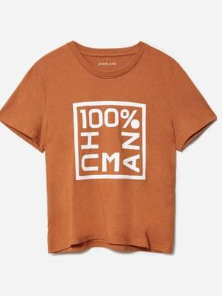 WOMEN The 100% Human Box-Cut Graphic Tee