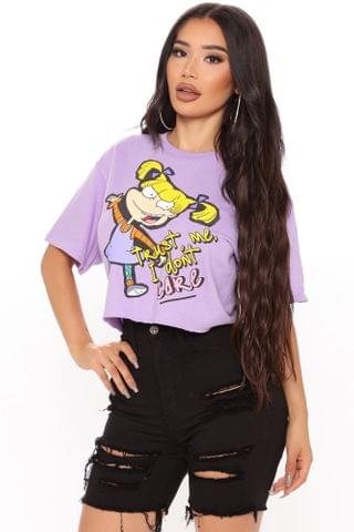 WOMEN Trust Me I Don't Care Crop Top - Lavender