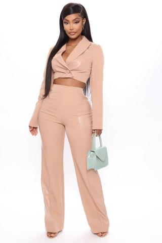 WOMEN Back To Work Pant Set - Nude