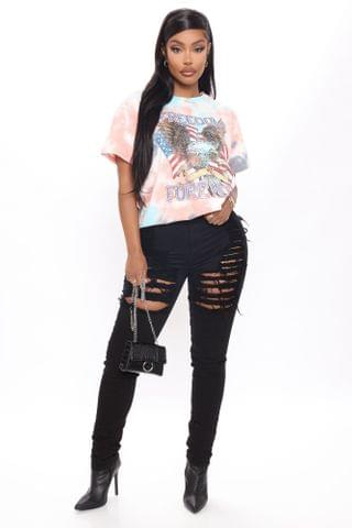WOMEN Yes Now Distressed Skinny Jeans - Black