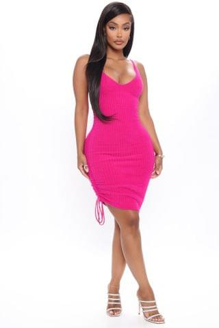 WOMEN Adore Me Fuzzy Sweater Dress - Hot Pink