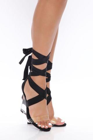 WOMEN Clearly Your Type Wedge - Black