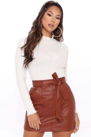 WOMEN Diamond In The Puff Sleeve Top - Off White