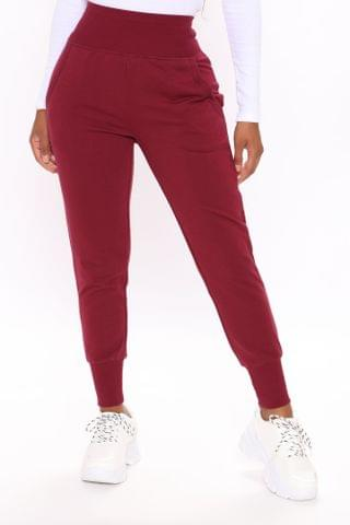 WOMEN The New Look Joggers - Burgundy
