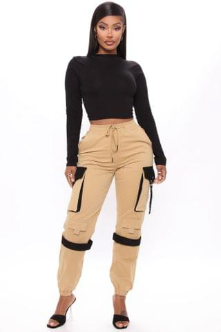 WOMEN Can't Get With You Cargo Pant - Khaki/combo