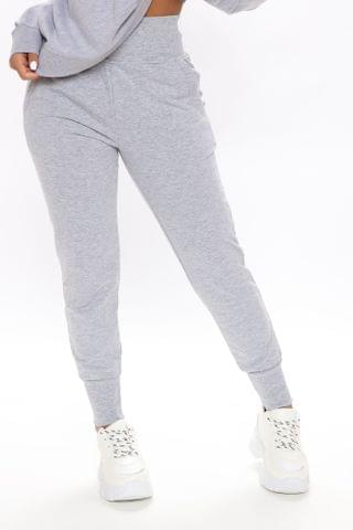 WOMEN The New Look Joggers - Heather Grey