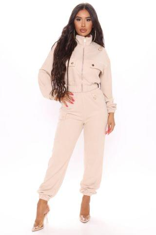 WOMEN Take Your Time Jogger Set - Taupe