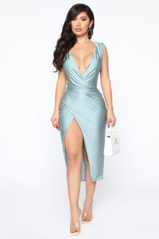 WOMEN Every Occasion Midi Dress - Blue