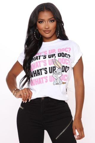 WOMEN What's Up Doc Top - White