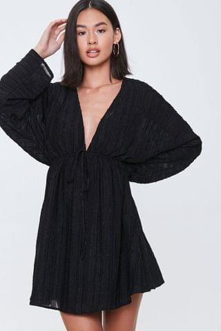 WOMEN Plunging Kimono-Sleeve Dress