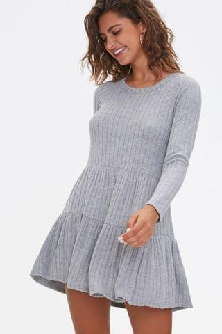 WOMEN Ribbed Knit Mini Dress