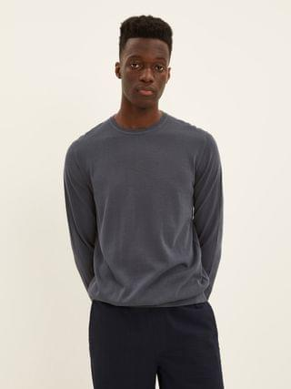 MEN The Cool Touch Crewneck Sweater in Blue Shade