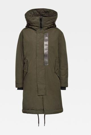 WOMEN Hooded Padded Fishtail Parka