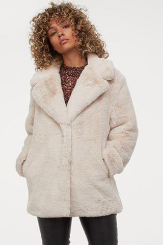 WOMEN Faux Fur Jacket