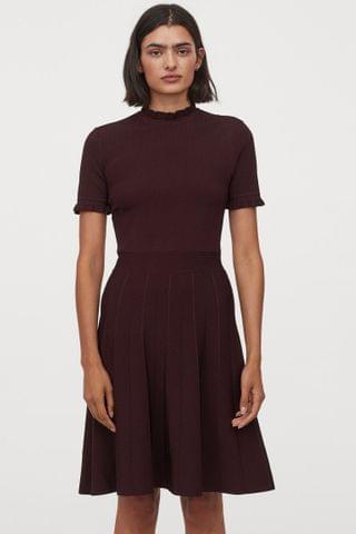 WOMEN Pleated-skirt Dress