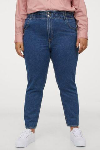 WOMEN H&M+ Tapered High Ankle Jeans