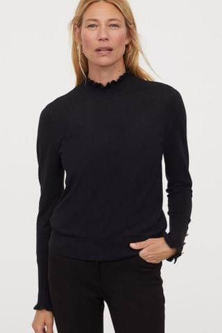 WOMEN Knit Mock-turtleneck Sweater