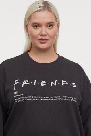 WOMEN H&M+ Graphic-design Sweatshirt
