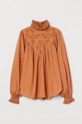 WOMEN Embroidered-detail Blouse