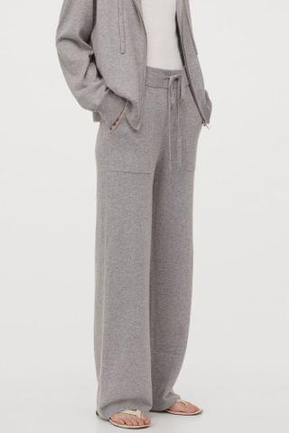 WOMEN Cashmere-blend trousers
