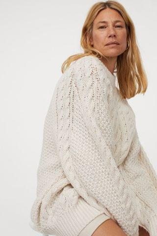 WOMEN Cable-knit Sweater