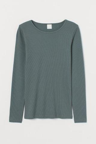 WOMEN Ribbed Jersey Top