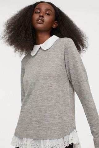 WOMEN Collar-detail Sweater