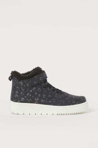 KIDS Faux shearling-lined hi-tops