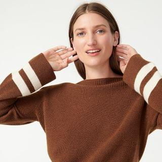 WOMEN Cashmere boatneck sweater with bell sleeves