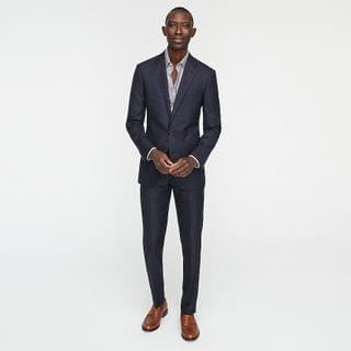 MEN Ludlow Slim-fit suit jacket in Italian basketweave wool