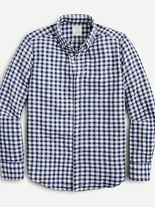 KIDS Boys' button-down shirt in picnic plaid